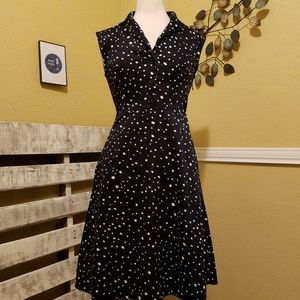 Ann Taylor Black Polka Dot Dress size 0